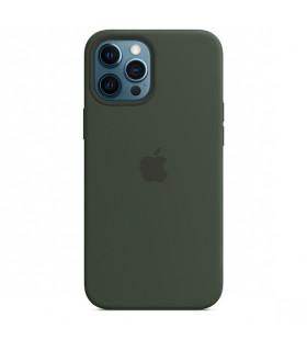 قاب سیلیکونی MagSafe آیفون ۱۲ پرو مکس رنگ سبز   مشابه اصلی