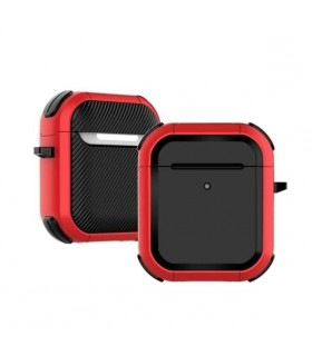 کیس محافظ ایرپادز نسل اول و دوم مدل Eggshell Defender رنگ قرمز