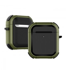 کیس محافظ ایرپادز نسل اول و دوم مدل Eggshell Defender رنگ سبز ارتشی