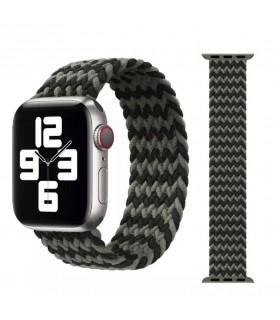 بند اپل واچ مدل Braided Solo Loop برای مدلهای ۴۲ و ۴۴ میلیمتر - رنگ سبز/مشکی سایز لارج مشابه اصلی