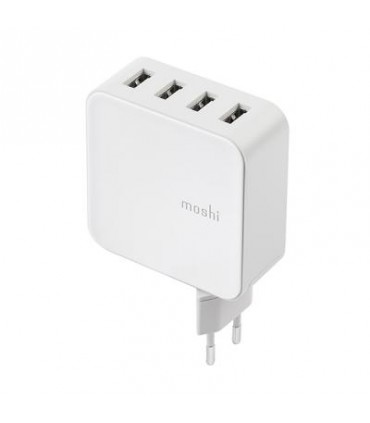 شارژر 4 پورت موشی مدل Moshi ProGeo Charger 4 USB-A Port (35W) EU