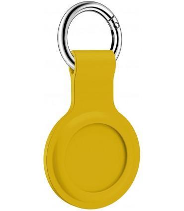 جاسوئیچی سیلیکونی اپل مدل AirTag Silicone Loop رنگ زرد - مشابه اصلی