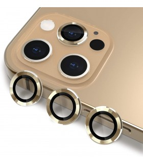 محافظ لنز دوربین گوشی آیفون 12رنگ طلایی