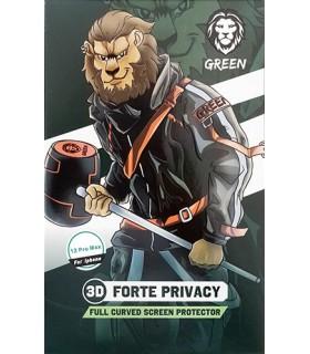 گلس شفاف دور ژله ای گرین مدل 3D Forte HD Glass مناسب برای گوشی 12Pro Max
