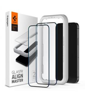 پک دو عددی گلس محافظ LCD اسپیگن مدل GLASTR ALIGNMASTER مناسب برای گوشی آیفون 12Pro Max